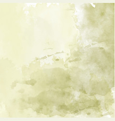 olive hand drawn watercolor background vector image