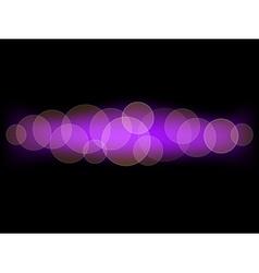 Purple bokeh background vector image vector image