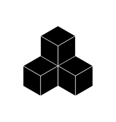 Black cubes on a white background vector image vector image
