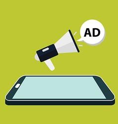 Flat isometric mobile phone marketing vector