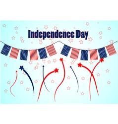 Garland in patriotic colors of american flag vector image