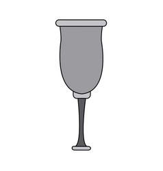 glassware crystal for beverage icon vector image vector image