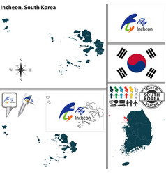 incheon metropolitan city south korea vector image