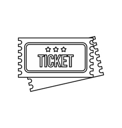 Vintage circus tickets icon outline style vector image