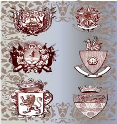 vintage emblems vector image vector image