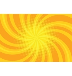 Yellow spiral pop art background vector image