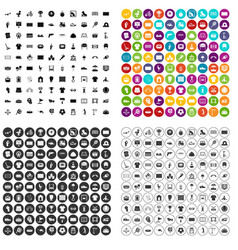 100 playground icons set variant vector image