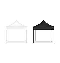 3d mock up realistic tent display pop booth vector