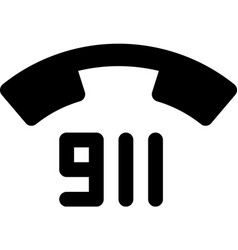 911 - emergency telephone number vector