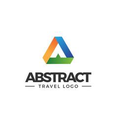 A letter logo lettermark monogram - abstract type vector