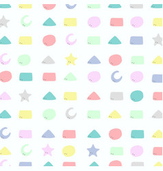 abstract colorful geometric pattern of cute vector image