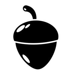 acorn icon simple black style vector image
