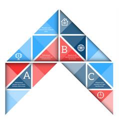 arrow presentation template vector image
