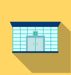 bank icon flate single building icon from the big vector image