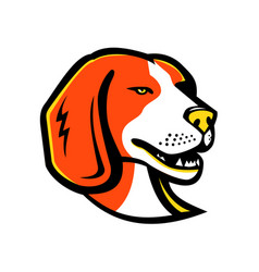 Beagle hound dog mascot vector