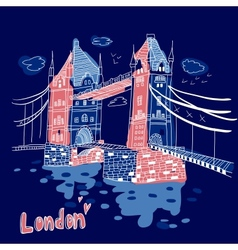 Big Ben and House of Parliament London UK vector image