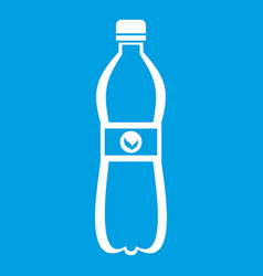 bottle of water icon white vector image