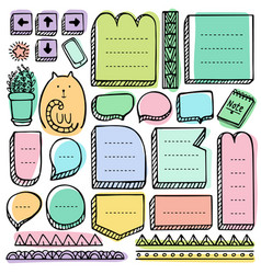Bullet journal hand drawn elements vector