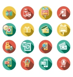 Business and Sales Flat Icons Set vector