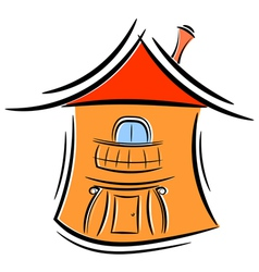 Cartoon little house eps10 vector image vector image