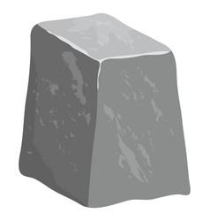 cartoon stone design isolated on white background vector image
