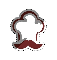 Chef hat silhouette vector image