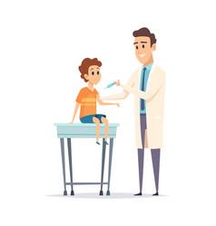children vaccination pediatrician kids virus vector image