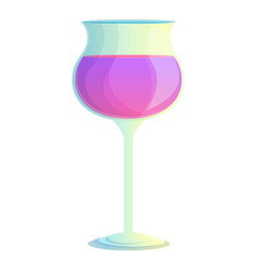 Cocktail drink icon cartoon style vector