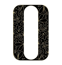 Decorative letter shape Font type A vector
