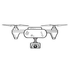 Drone toy sketch vector