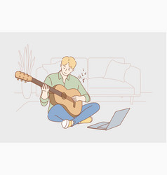 education creativity learning play music vector image