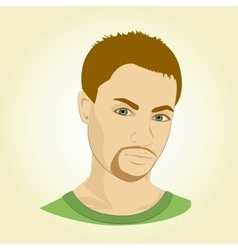Face of young man vector image
