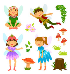 Fairies of both genders vector
