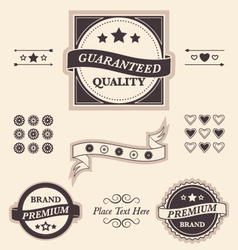 Fancy design elements badges and emblems set vector