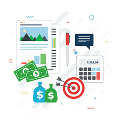 financial investment analytics with growth report vector image