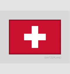 Flag of switzerland national ensign aspect ratio vector