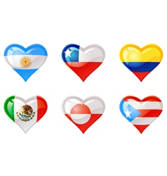 Flags heart vector