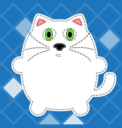 fluffy cat vector image