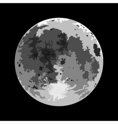 Full moon on a black background vector image