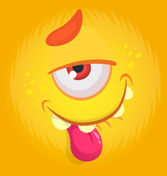 Funny cartoon monster with funny expression vector