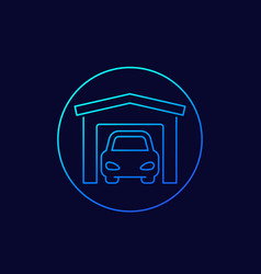 Garage icon thin line vector