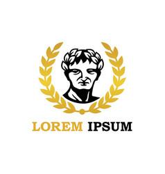 golden caesar logo brand image vector image