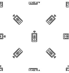 house temperature smart control pattern seamless vector image