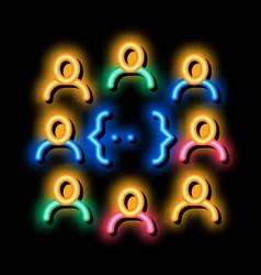 Idea discussion neon glow icon vector