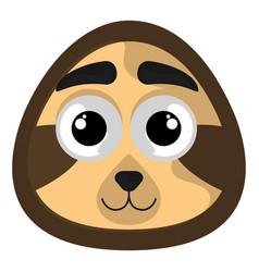 isolated cute avatar a sloth vector image