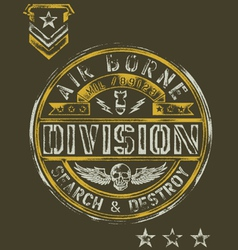 Military Stencil Vintage T-shirt Graphic vector