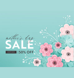 mothers day sale design spring promo discount vector image