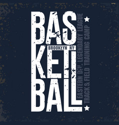 new york baketball t-shirt sport typography vector image