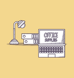 office supplies design vector image