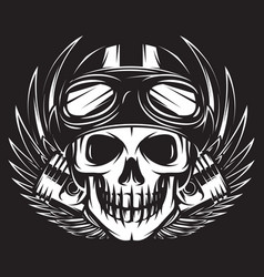 on a motorcycle theme with vector image